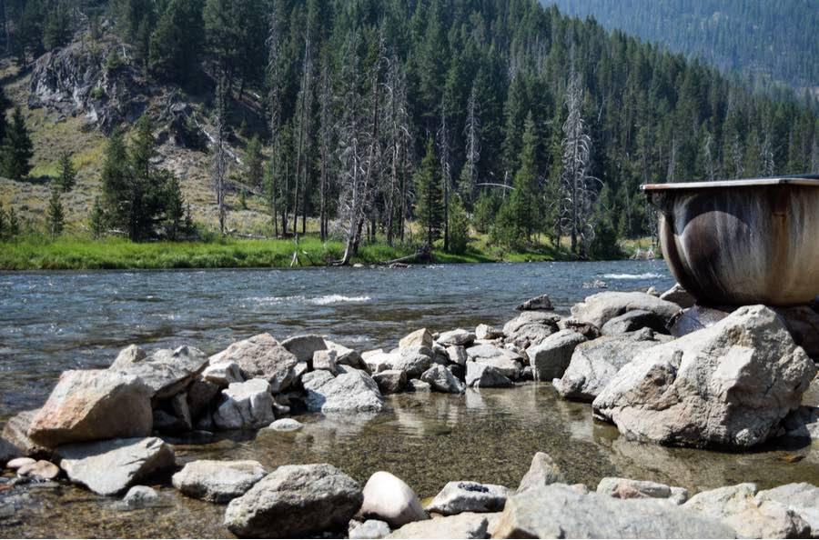 Boat Box Hot Springs in Idaho