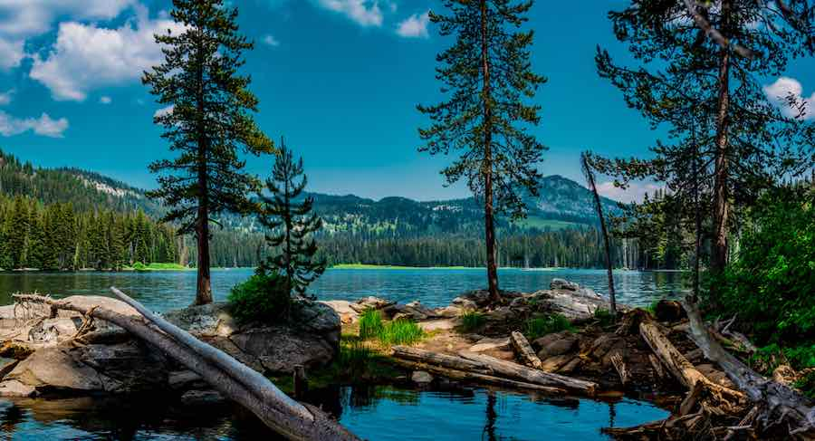 Boulder Lake located in the Payette National Forest of Idaho