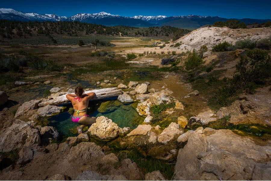 Travertine Hot Springs in California