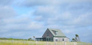 Beach House on Shoreline of Massachusetts