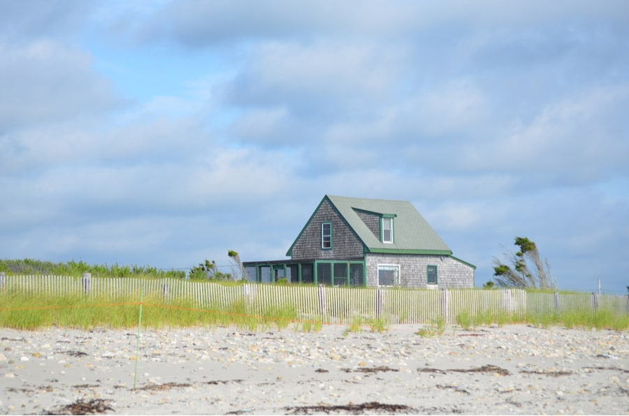 Beach House on Shoreline of Massachusetts