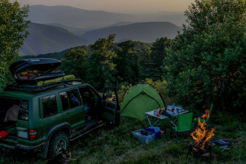 Car Camping in the Mountains