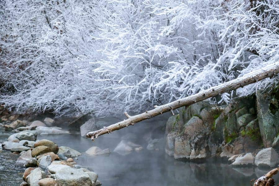 Frenchman's Bend Hot Springs in Winter