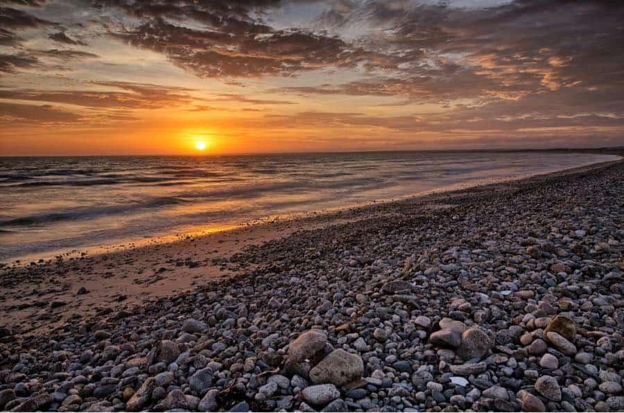 Sunset at Horseneck Beach in Massachusetts