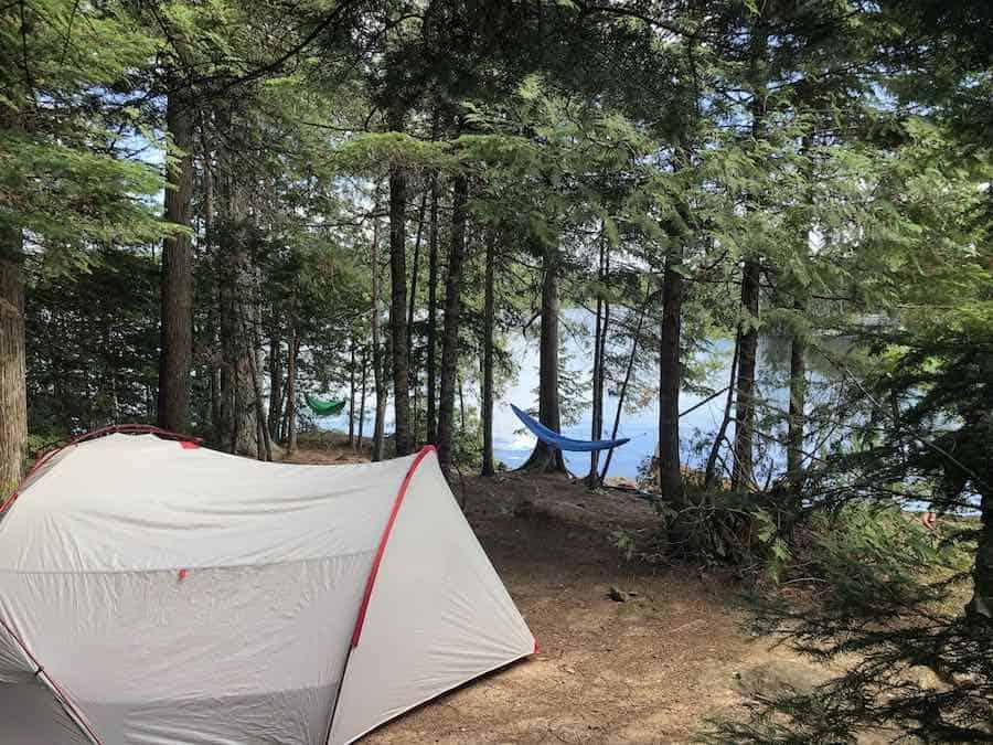 MSR Hubba Tour 2 on Meeds Lake - Minnesota