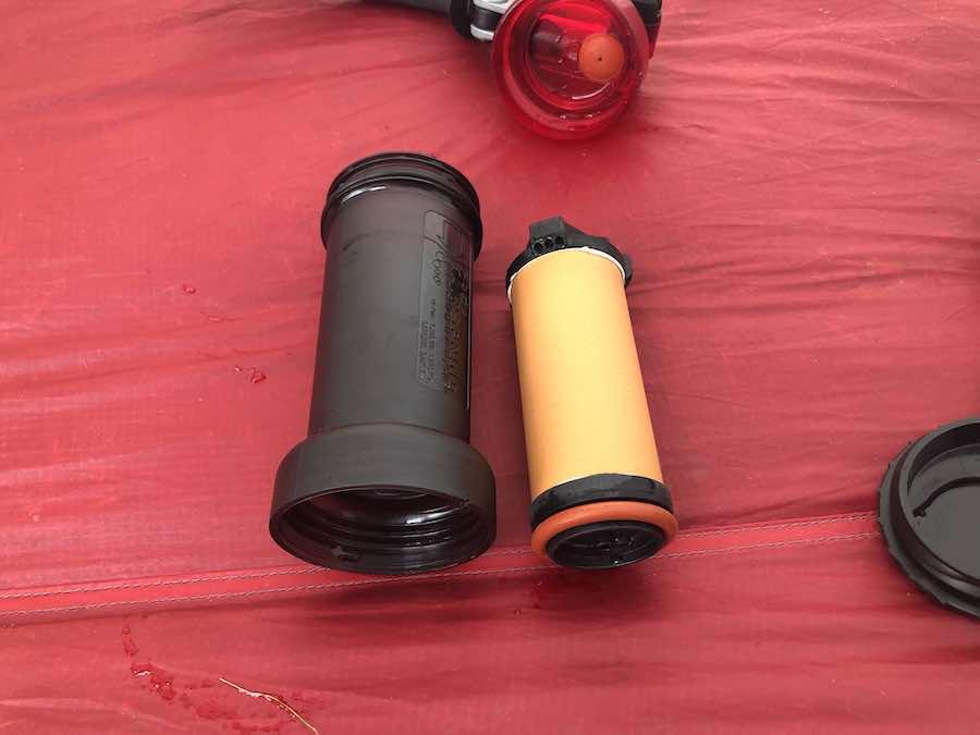 The MSR Miniworks Ceramic Filter