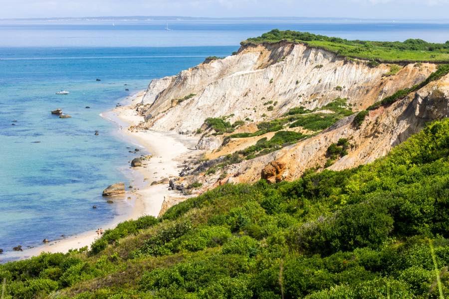 Cliffs Near Beach at Martha's Vineyard in Massachusetts