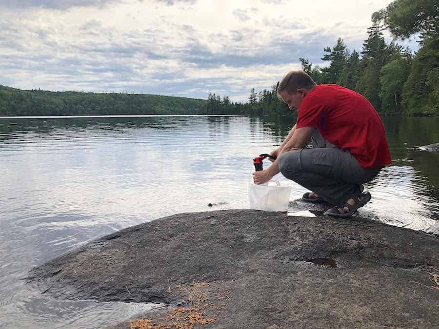 Pumping the MSR Miniworks EX Water Filter