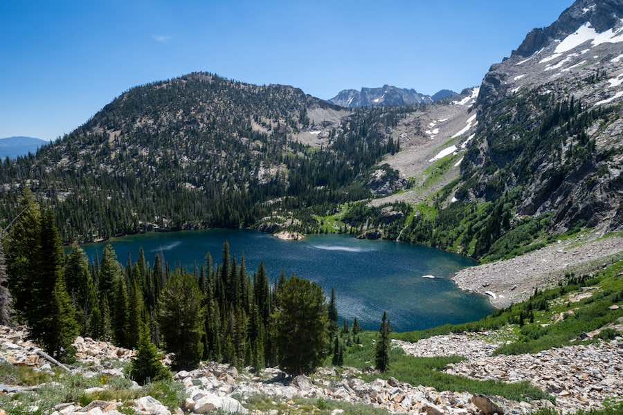 Sawtooth Lake trail in Idaho