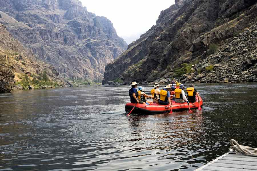 Rafting down the Snake River canyon, Idaho