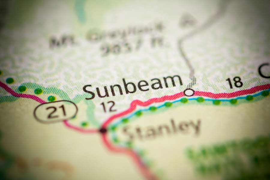 Map of Sunbeam Idaho