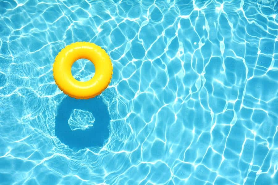 Swimming Pool with Yellow Inner Tube