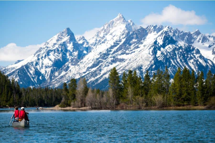 Boating in Grand Teton National Park
