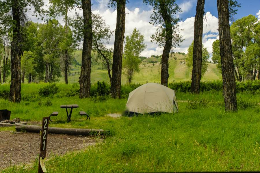 Gros Ventre Campground in Grand Teton National Park