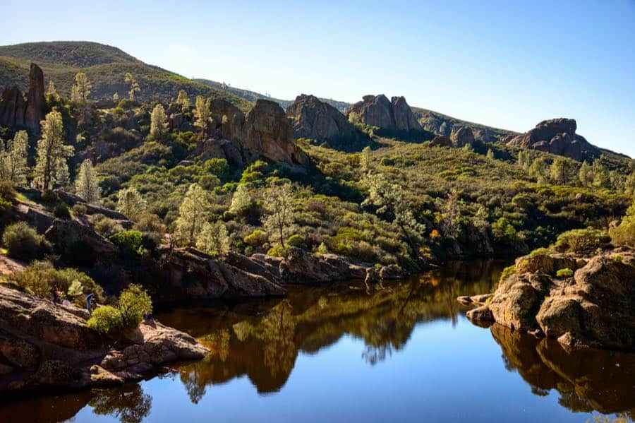 Bear Gulch Reservoir in Pinnacles National Park