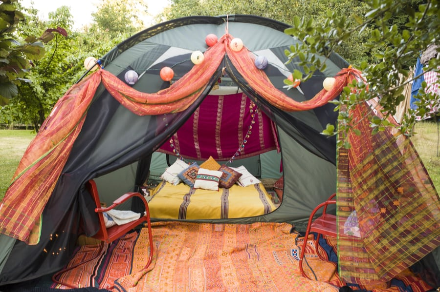 Glamping Tent with Luxurious Decor