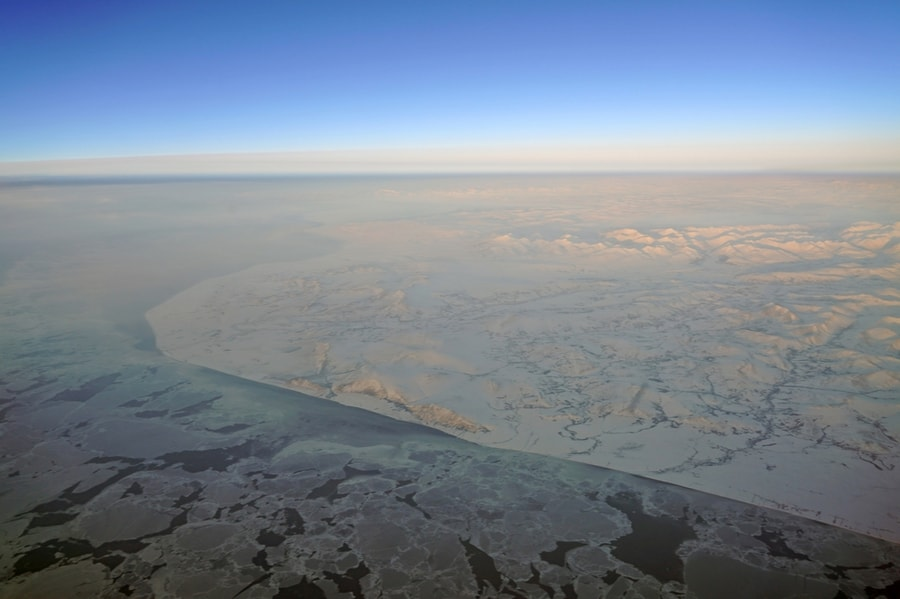 Aerial View of Bering Strait Near Nome