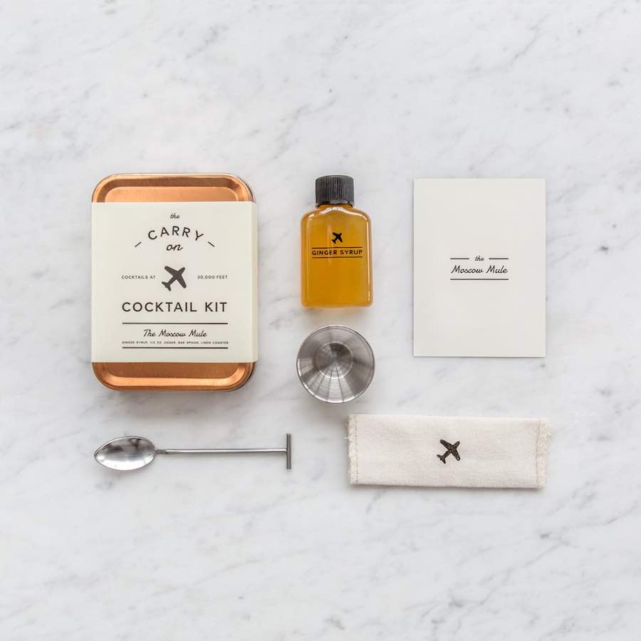 Travel Gifts for Men - Carry on Cocktail Kit