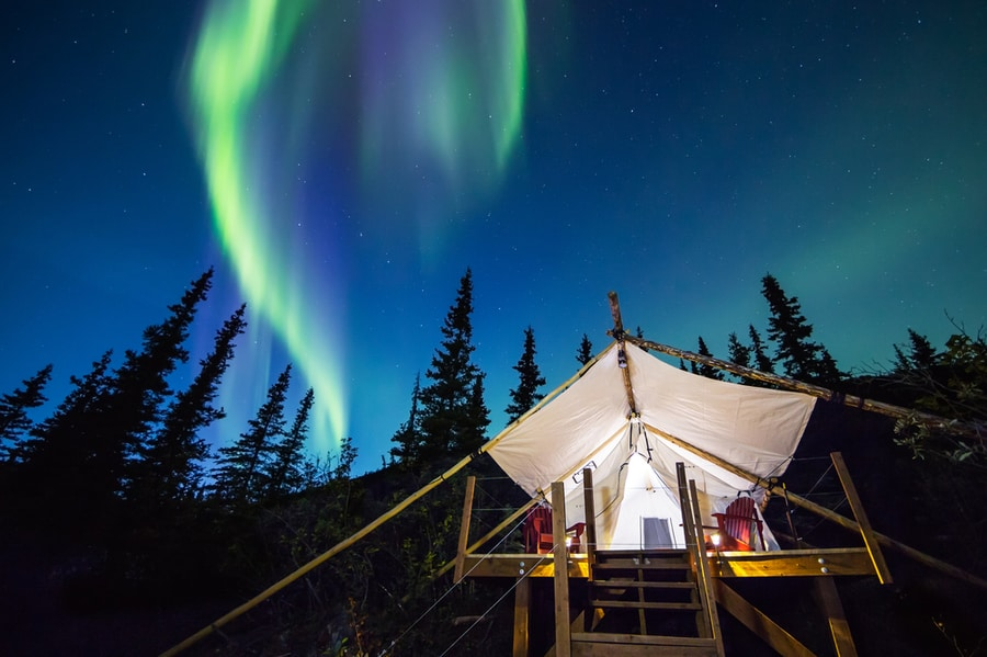 Glamping in Alaska