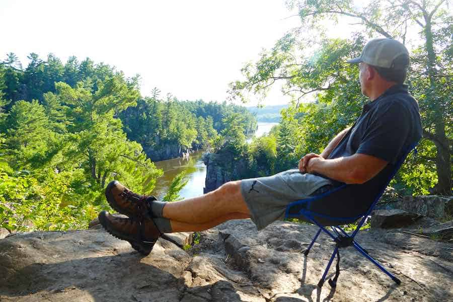 Relaxing in the Keen Targhee 3