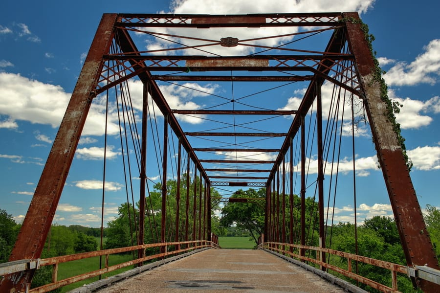 Bridge in Clifton Texas