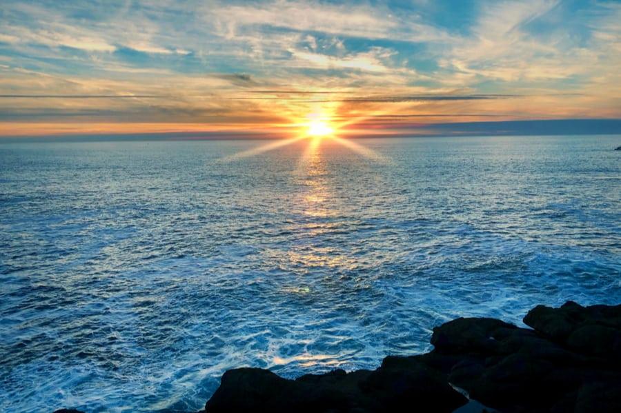 Sunset Near Sea & Sand RV Park in Oregon