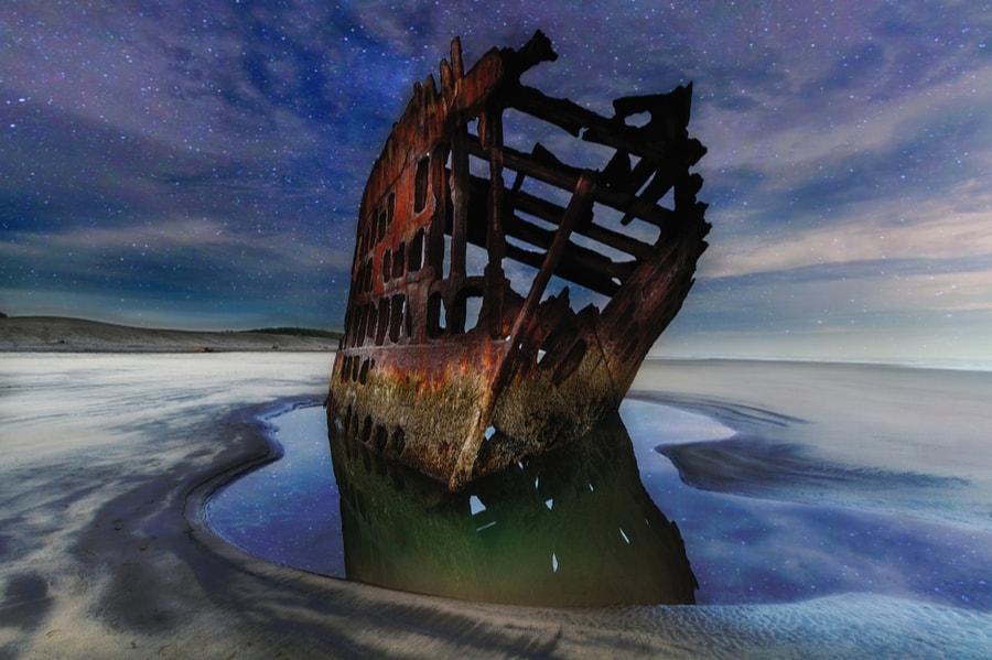 Shipwreck at Fort Stevens State Park
