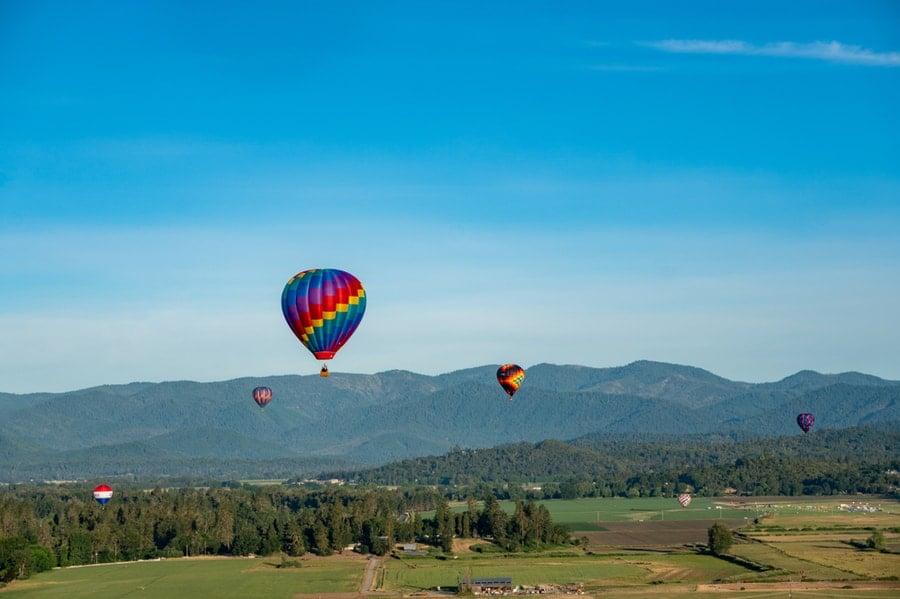 Hot Air Balloons Near Grants Pass RV Park in Oregon