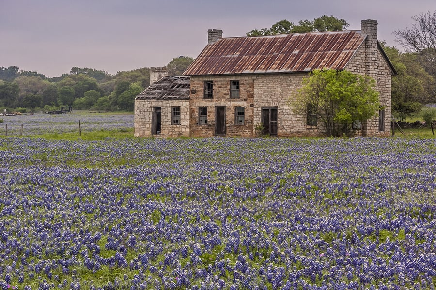 Old House Near Marble Falls Texas