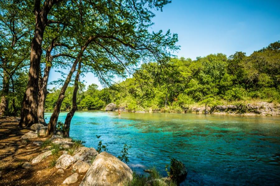 Guadalupe River Near Near Braunfels Texas