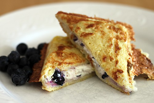 Pie Iron Blueberry Stuffed French Toast