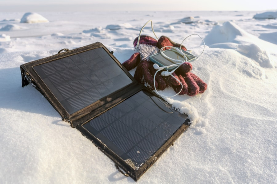 Solar Charger in Snow