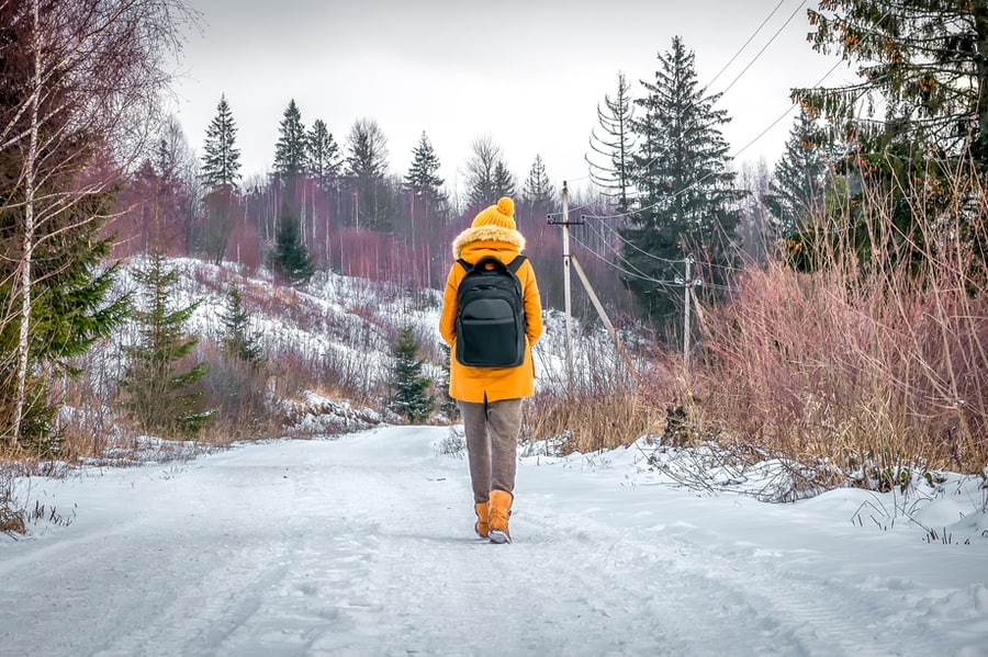 Winter Hiking in the Snow