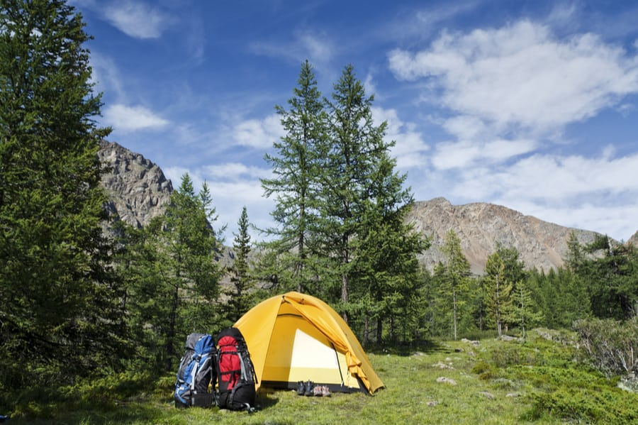 Backpacking Tent in Backcountry