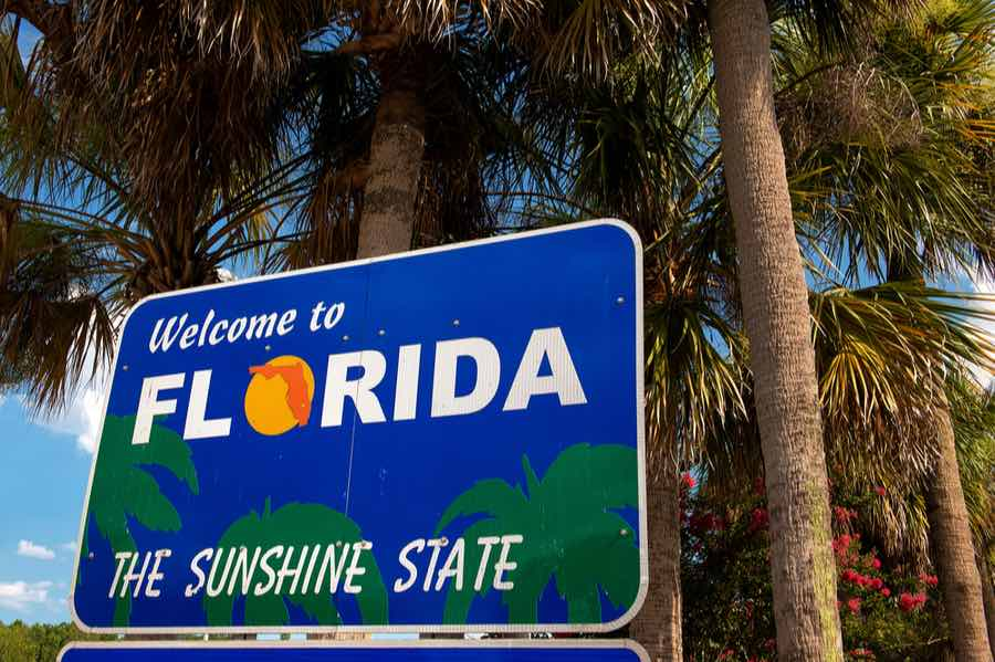 Sign for Florida