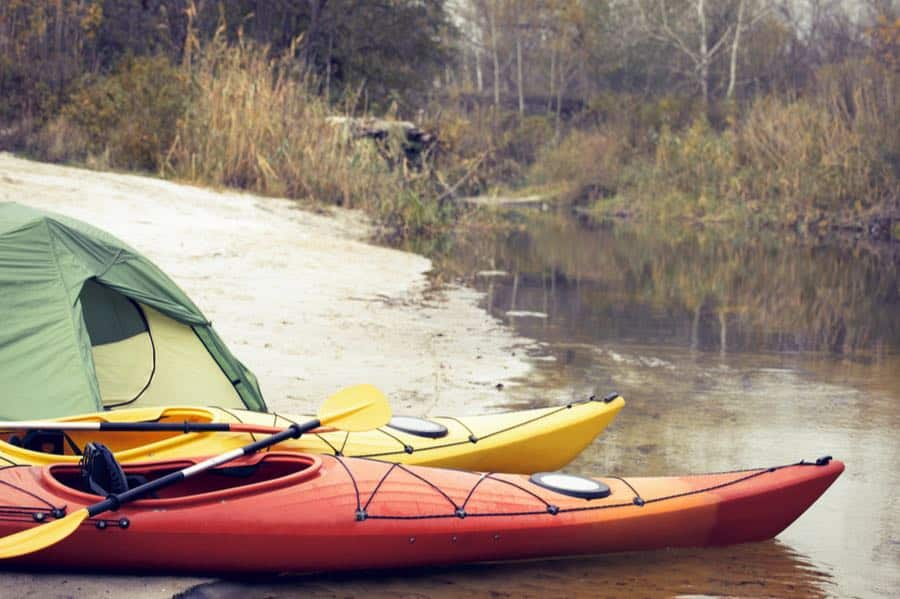 Kayak Camping by Tent