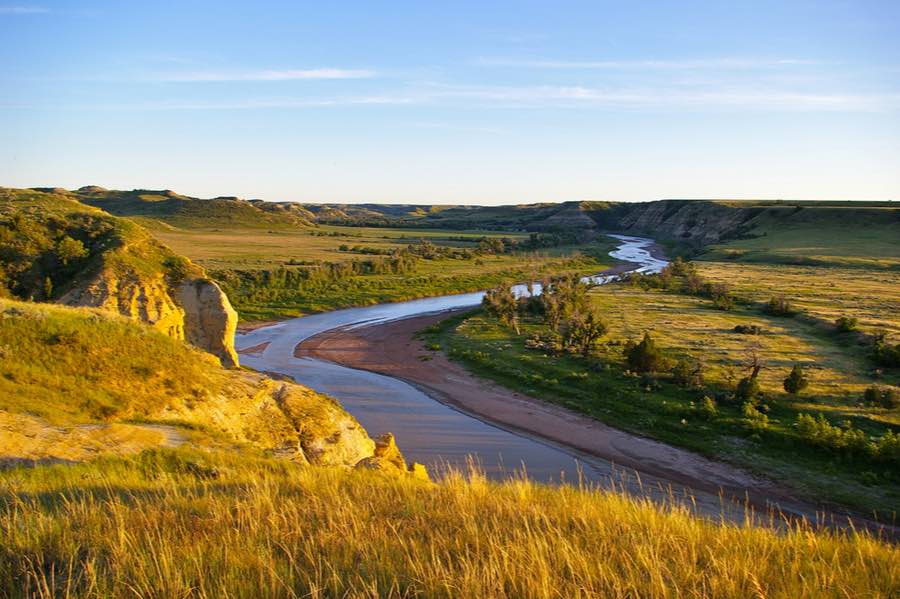 Little Missouri River Near Theodore Roosevelt National Park