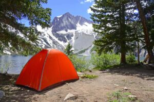 Tent Camping in Montana Near Mountains