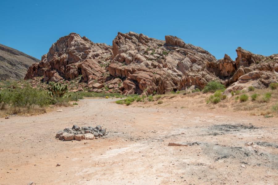 Dispersed Campsite in Desert