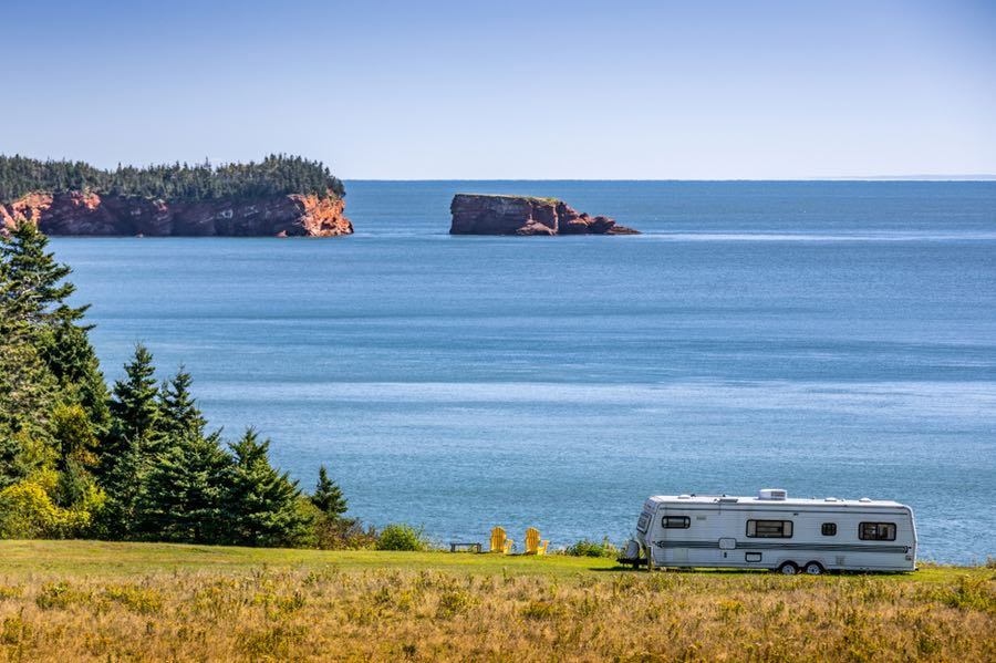 RV Camping on the Ocean Coast