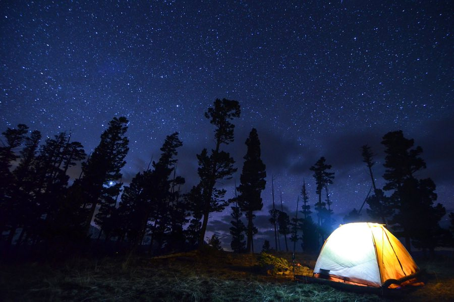 Tent Camping Under the Stars in Montana