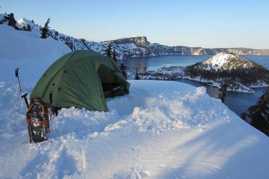 Winter Camping at Crater Lake