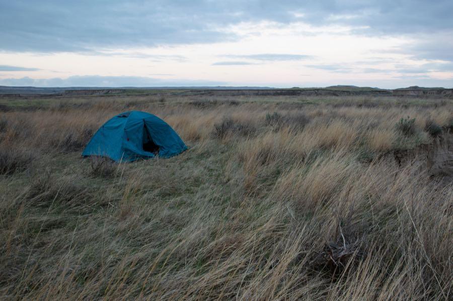 Backpacking in Badlands National park