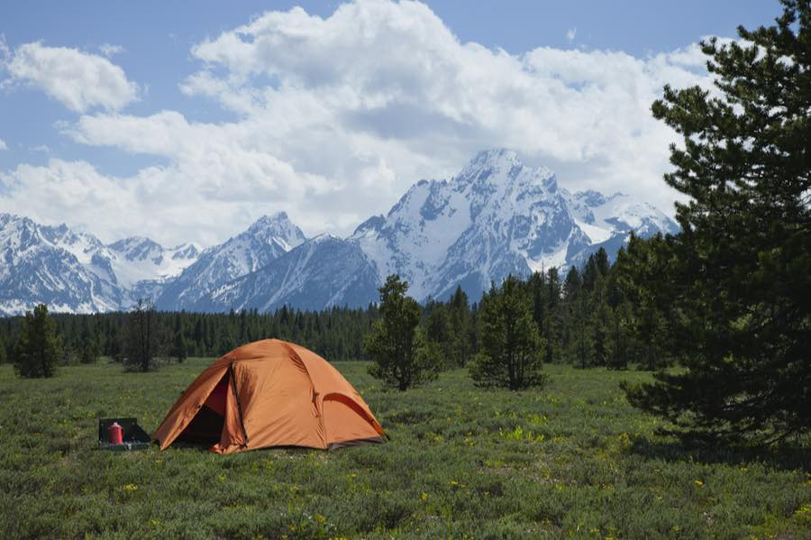 Tent Camping in Wyoming near the Grand Tetons
