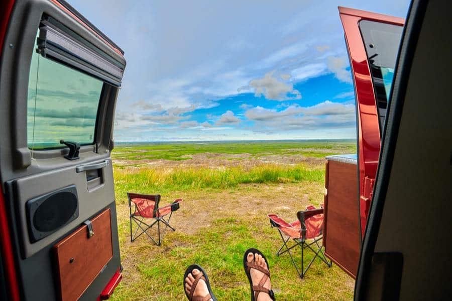 Van Camping in Badlands National Park