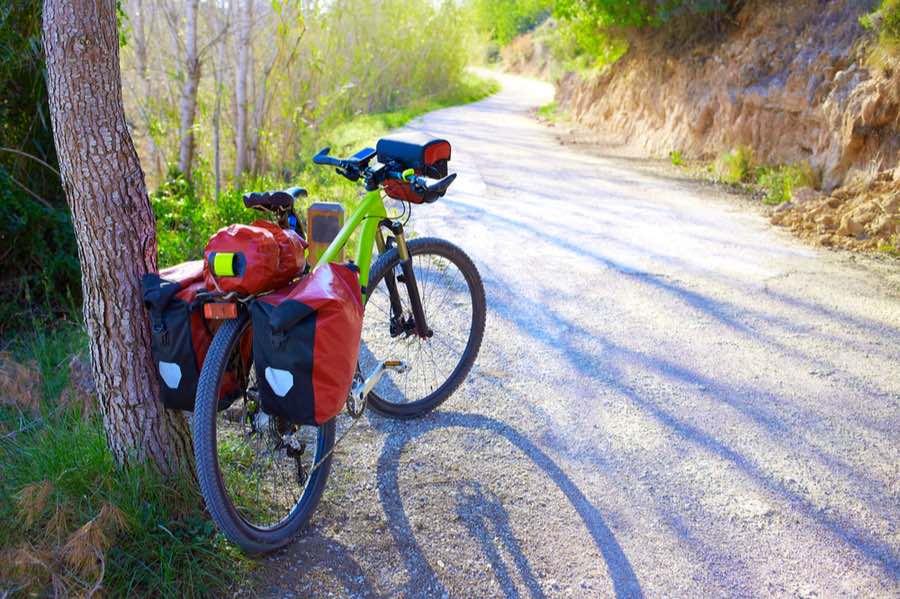 Bikepacking on a Gravel Road