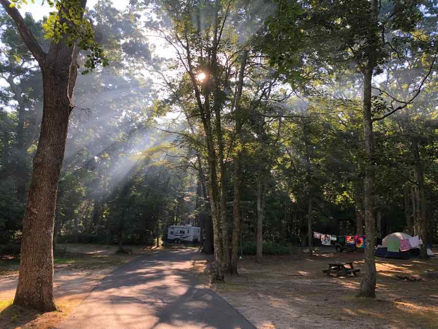 Camping at Burlingame State Park RI