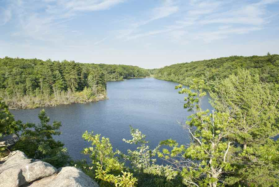 Long Pond in Hopkinton, Rhode Island