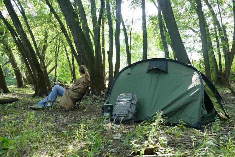 Snugpak Jungle Blanket in Minnesota Wilderness