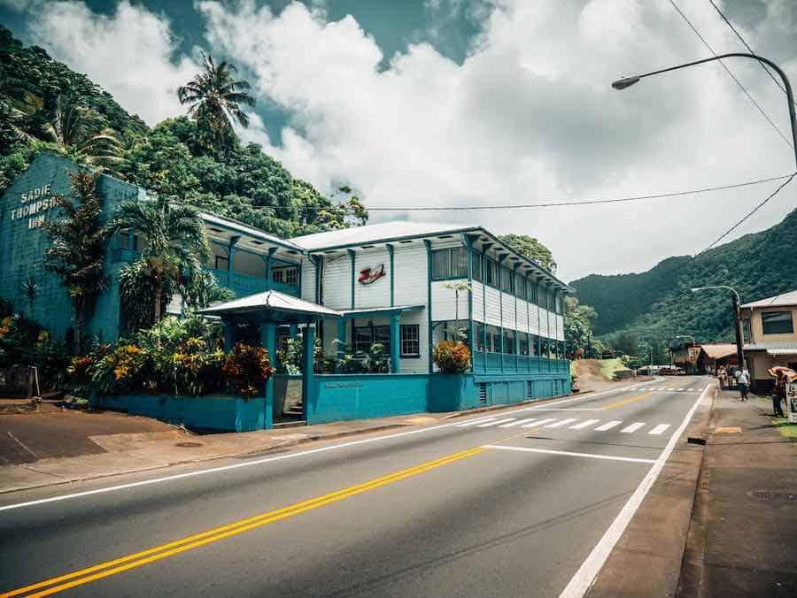 Main Street in Pago Pago, American Samoa